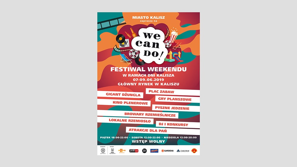 Projekt logo festiwalu WeCanDo